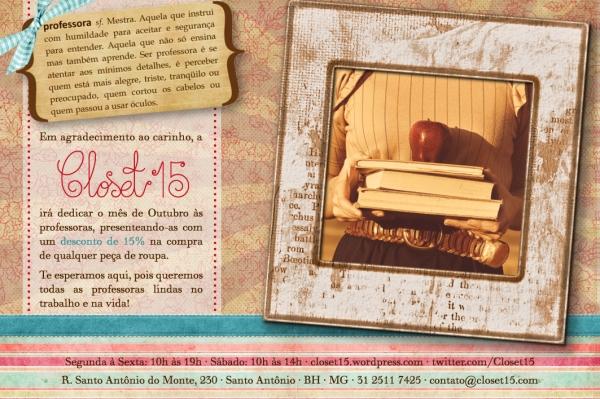 closet 15 - flyer mês das professoras
